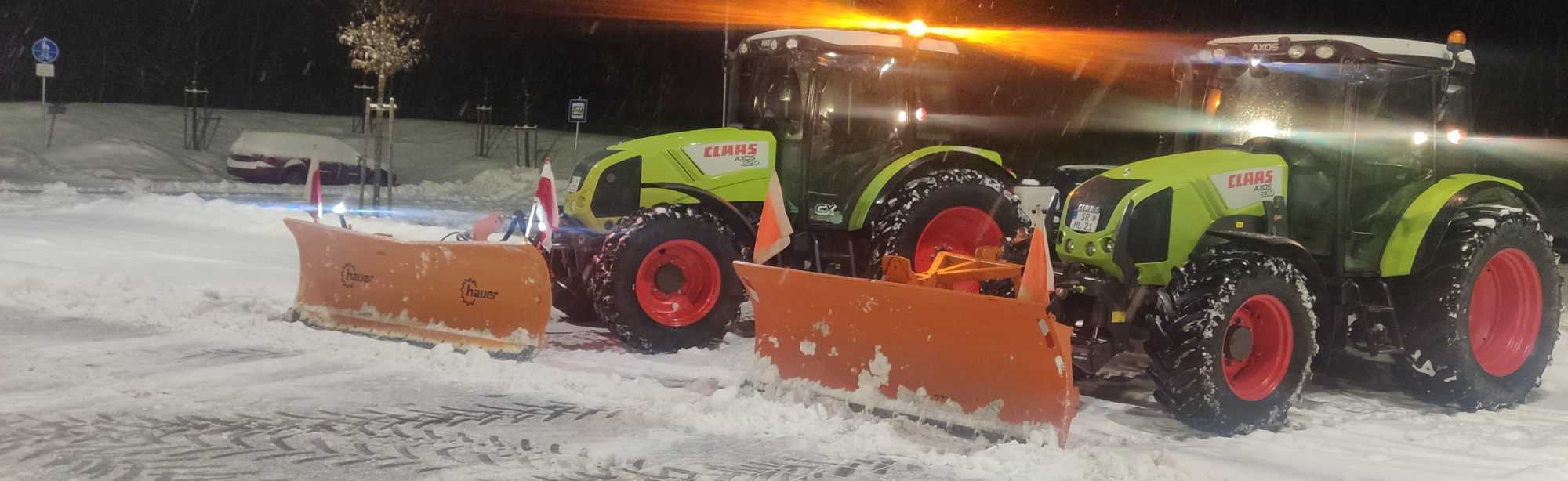 Winterdienst in der Region Ascha, Niederbayern